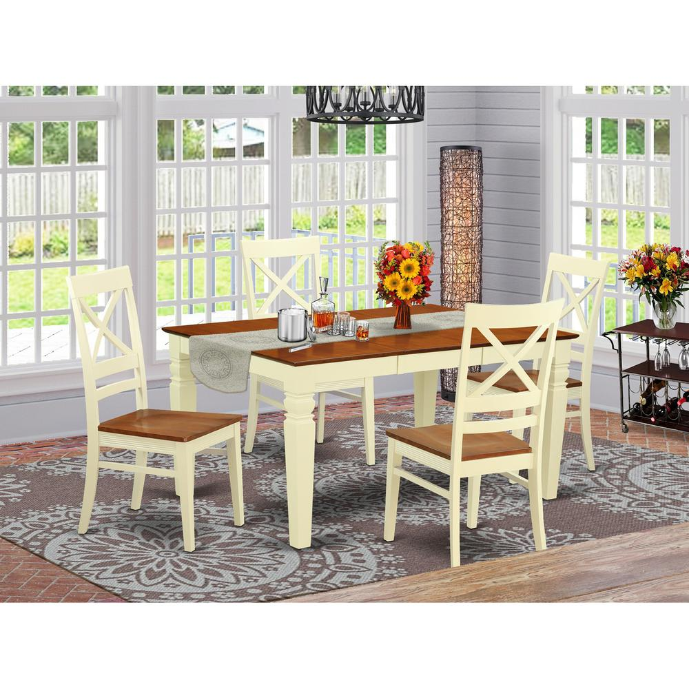 5 pc kitchen table set with a dinning table and 4 wood for Kitchen table set 4
