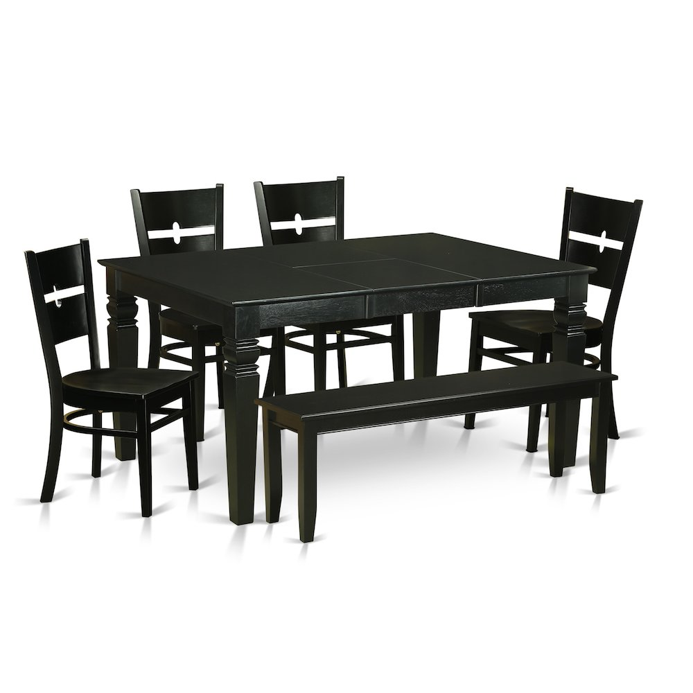 6 pc kitchen dining set small kitchen table and 4 for Small dining table for 6