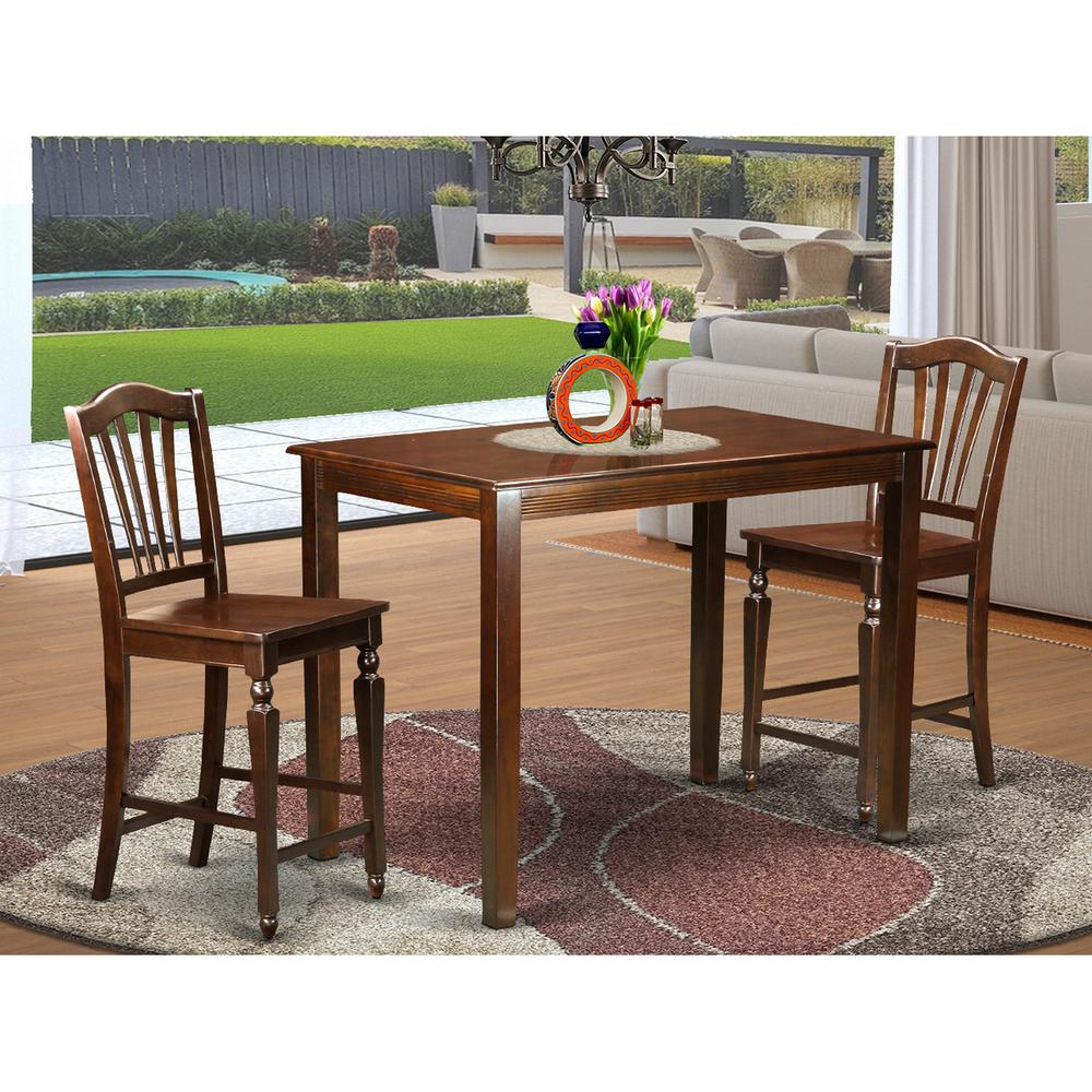 3 pc counter height dining room set counter height table and 2 bar stools. Black Bedroom Furniture Sets. Home Design Ideas