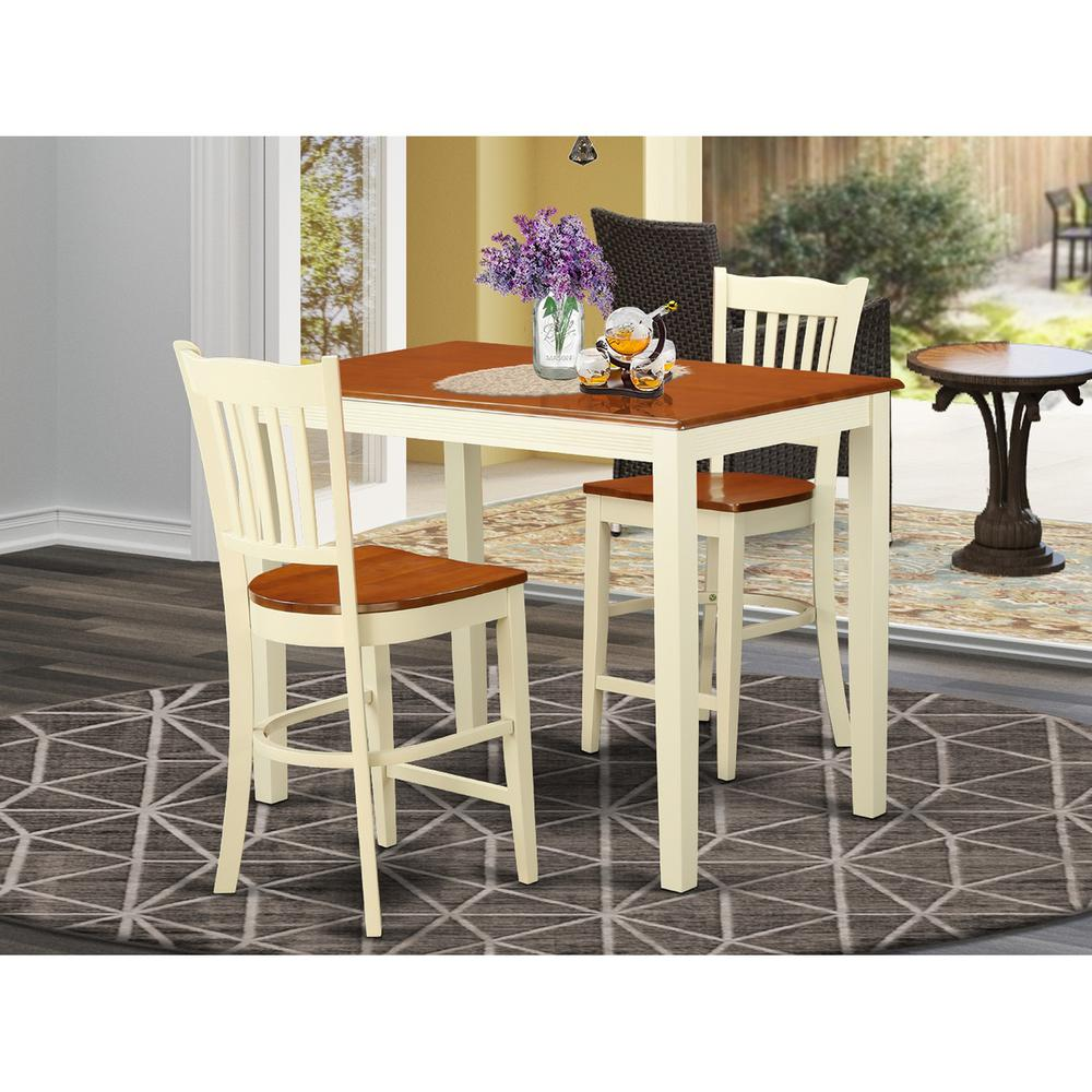 3  Pc  counter  height  pub  set  -  high  Table  and  2  counter  height  Chairs.. Picture 1