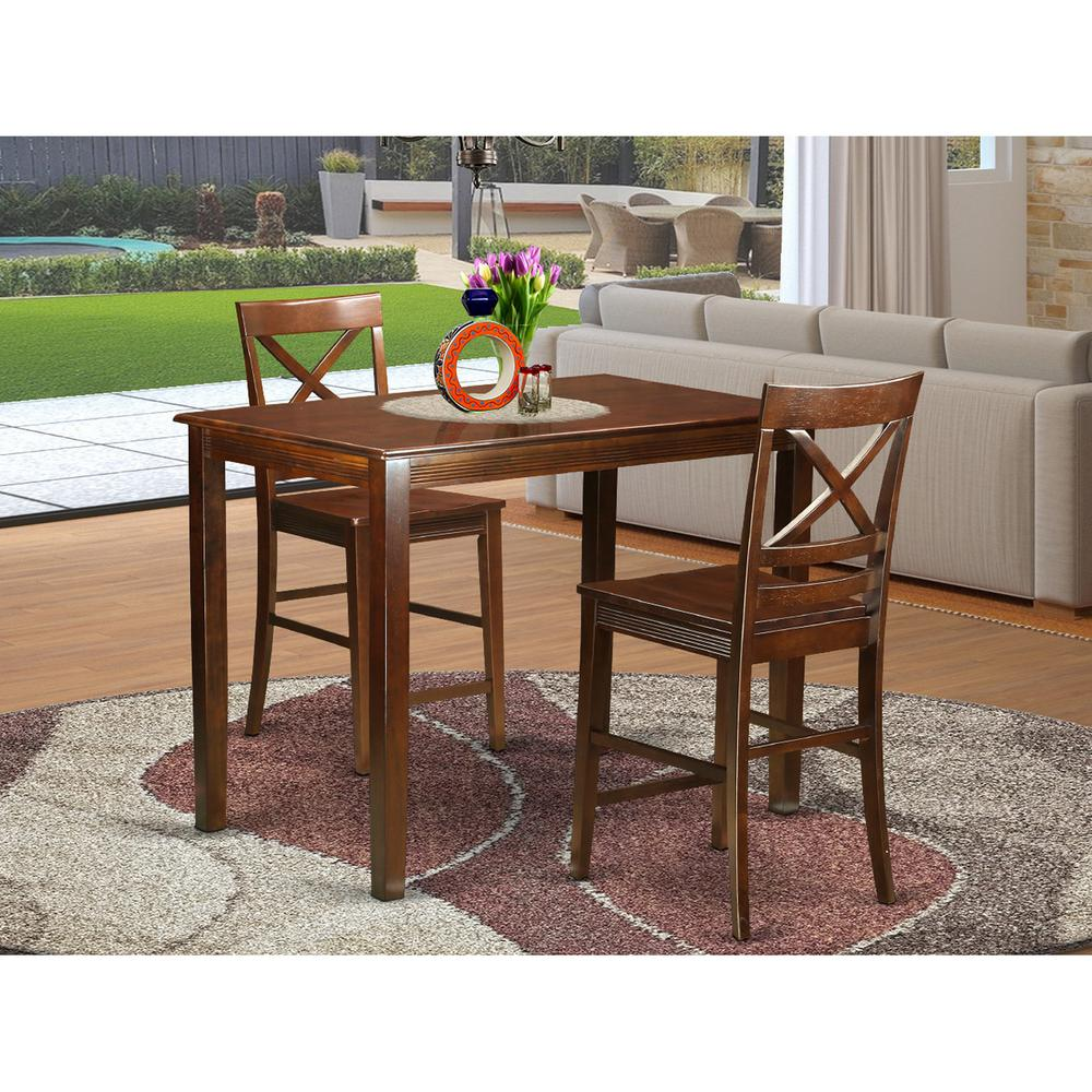 3  Pc  Dining  counter  height  set-  high  Table  and  2  Dining  Chairs.. Picture 1
