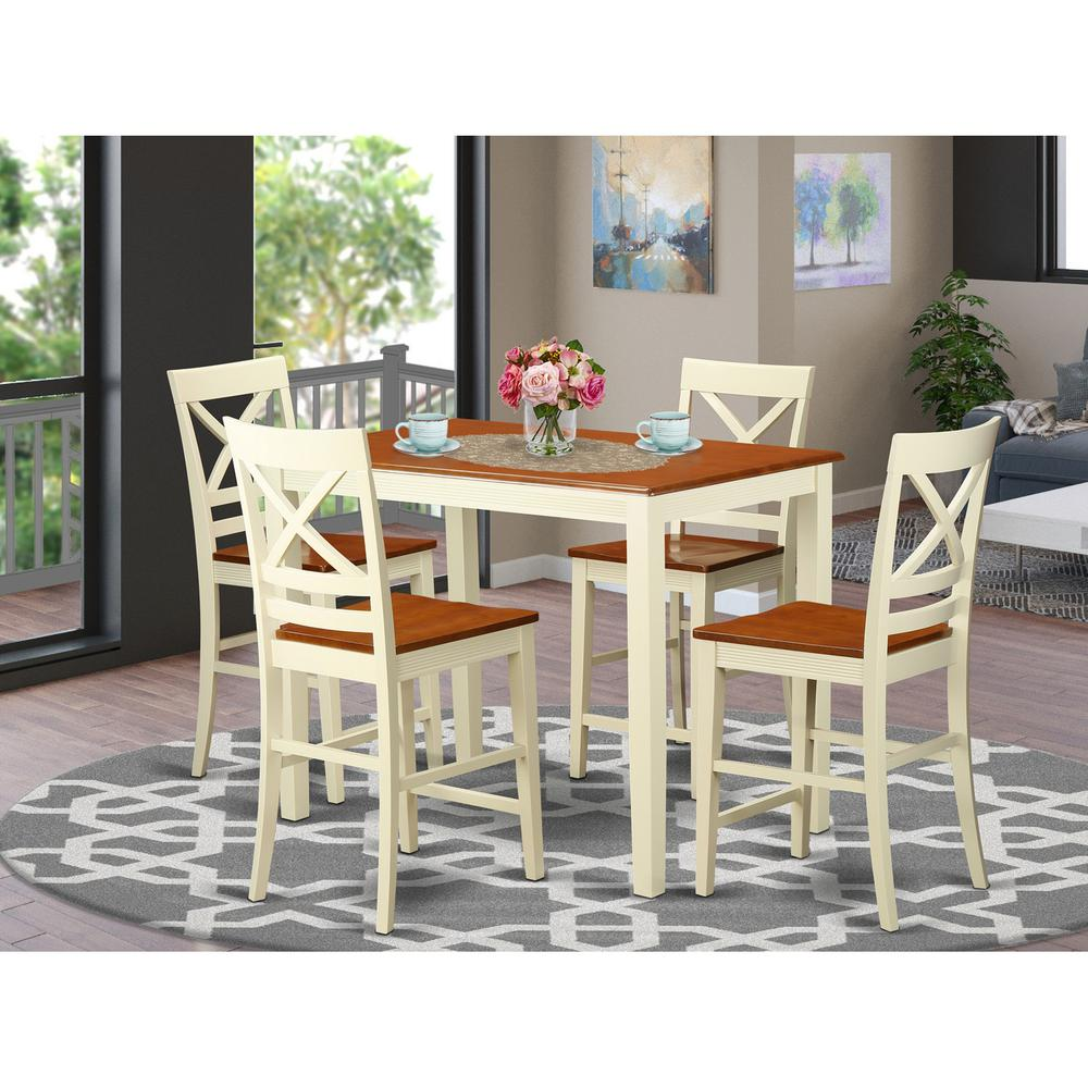 5  Pc  counter  height  Table  and  chair  set  -  high  Table  and  4  Kitchen  Chairs.. Picture 1
