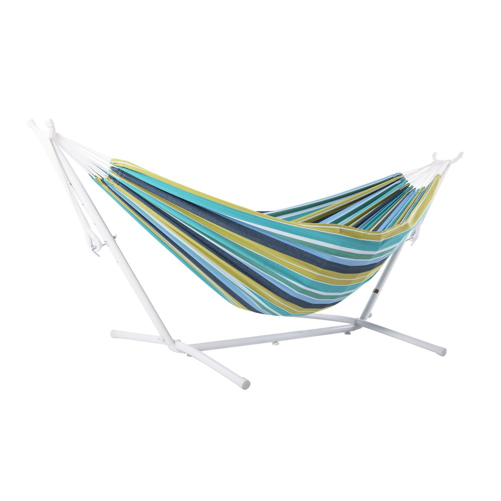 Vivere S Combo Double Cayo Reef Hammock With Stand 9ft