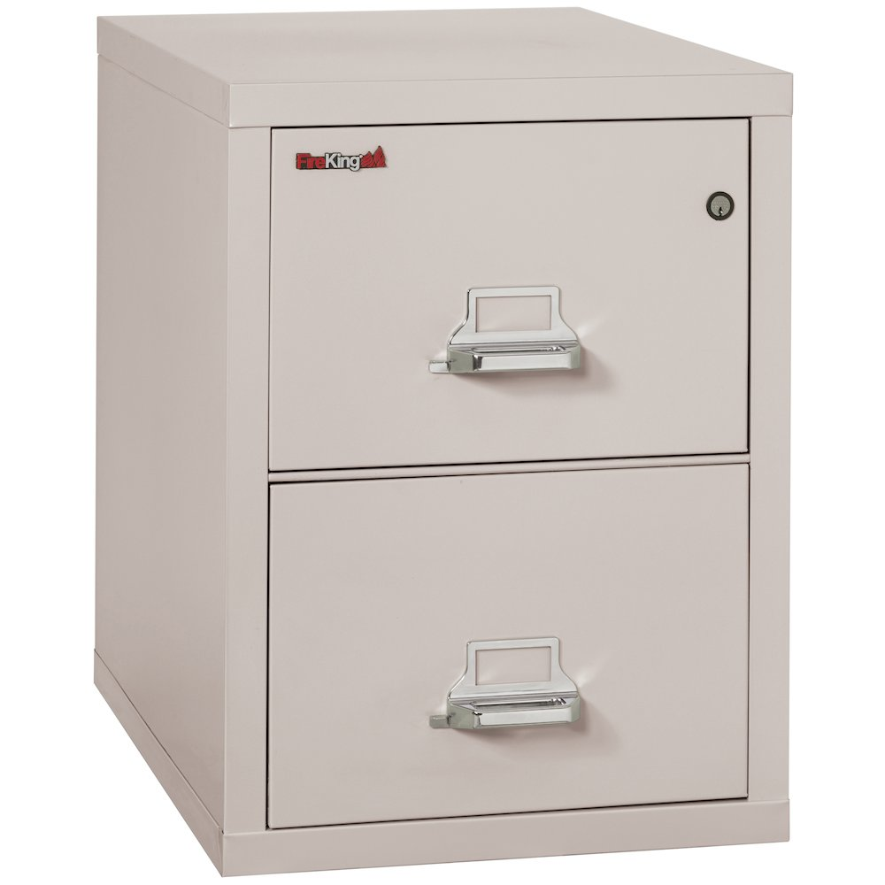 "Vertical File Cabinet, 2 Drawer Letter 31 1/2"" depth, Platinum. The main picture."