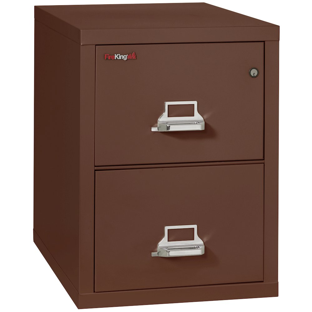 "Vertical File Cabinet 2 Drawer Legal 31 1 2"" depth Brown"