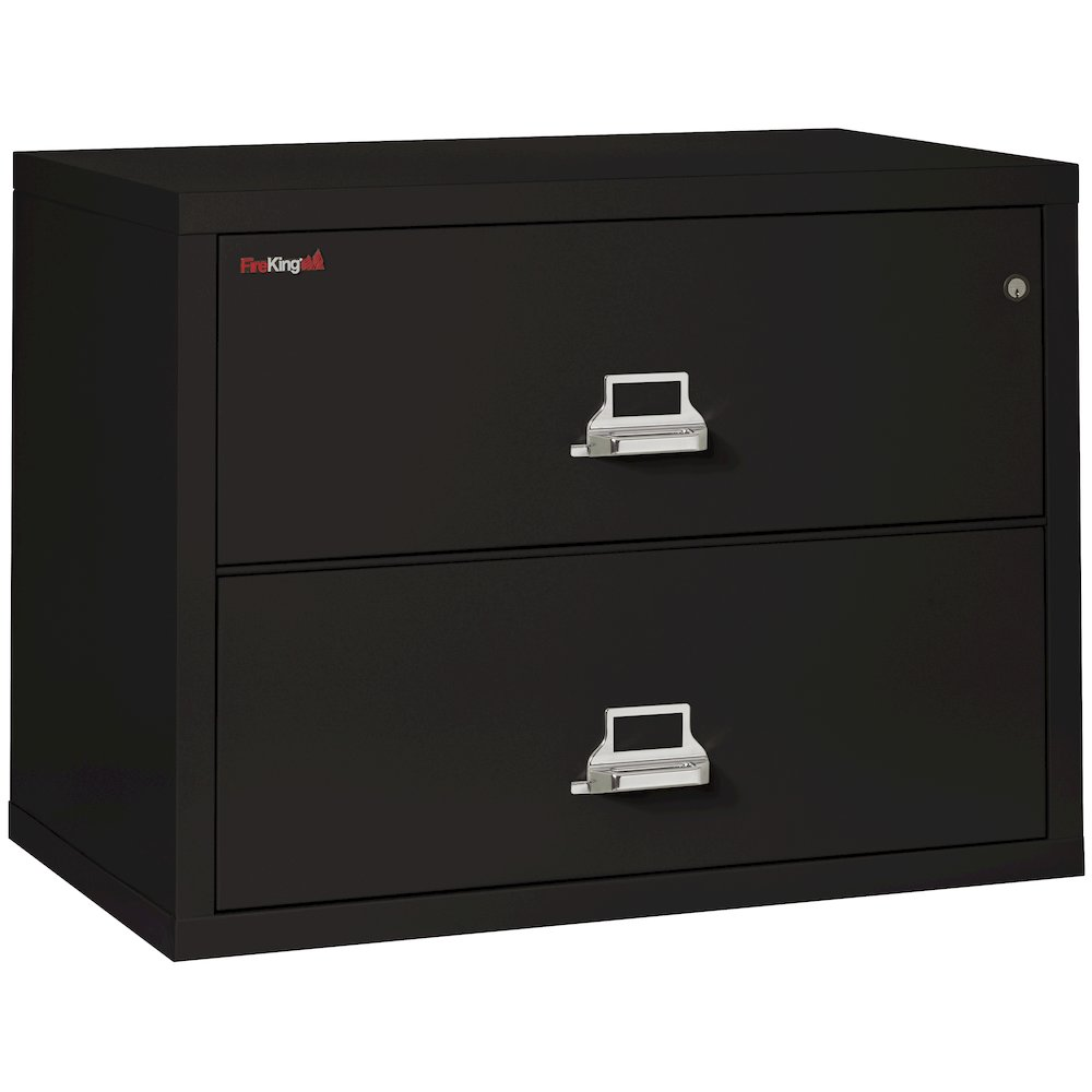 "2 Drawer Lateral File, 38"" wide, Black. Picture 1"