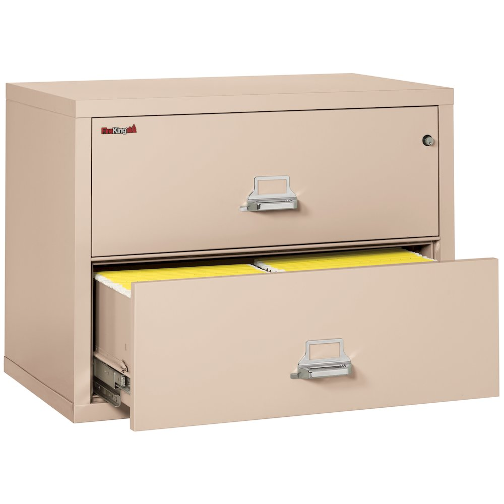 """2 Drawer Lateral File, 38"""" wide, Champagne. Picture 2"""
