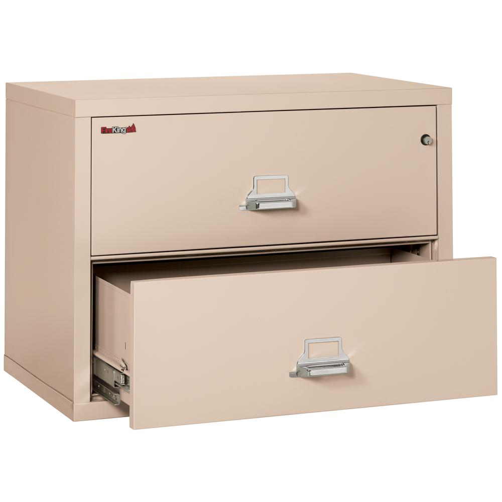"""2 Drawer Lateral File, 38"""" wide, Champagne. Picture 3"""