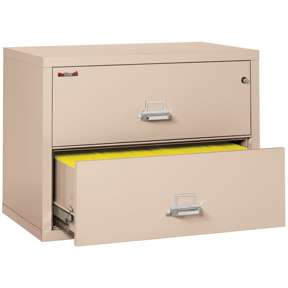 """2 Drawer Lateral File, 38"""" wide, Champagne. Picture 4"""