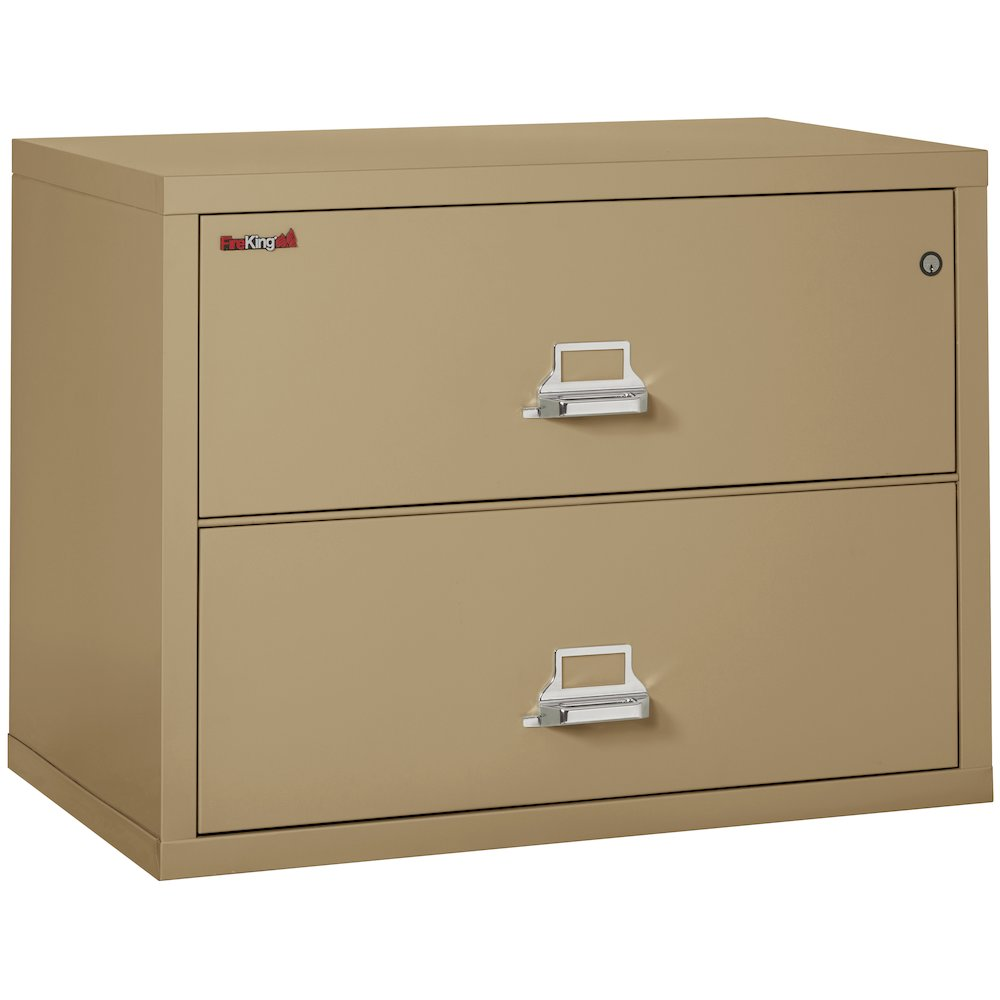 """2 Drawer Lateral File, 38"""" wide, Sand. Picture 1"""