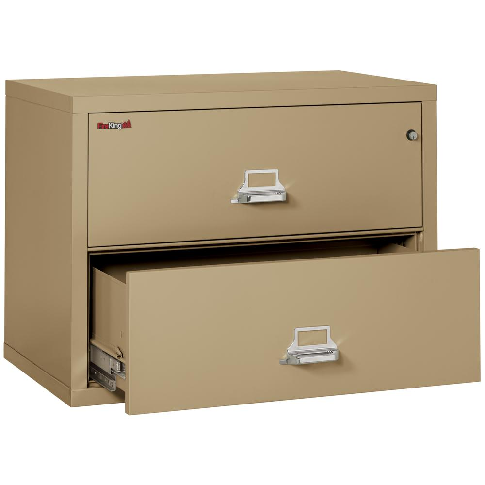 """2 Drawer Lateral File, 38"""" wide, Sand. Picture 3"""