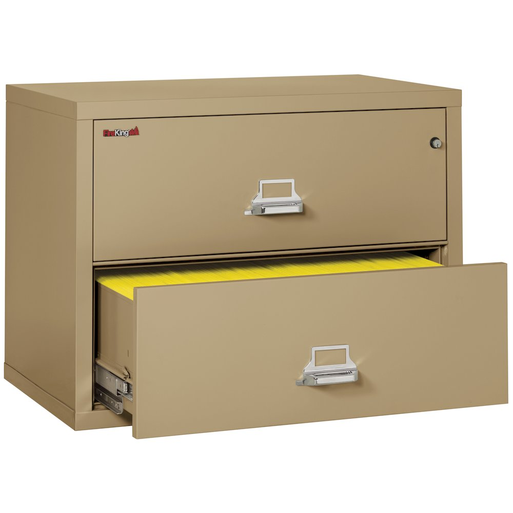 """2 Drawer Lateral File, 38"""" wide, Sand. Picture 4"""