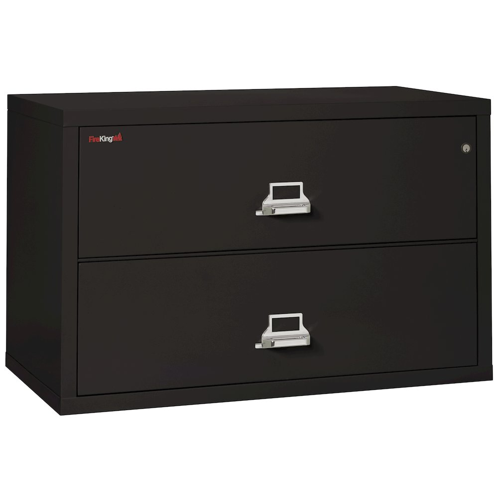 "2 Drawer Lateral File, 44"" wide, Black. Picture 1"