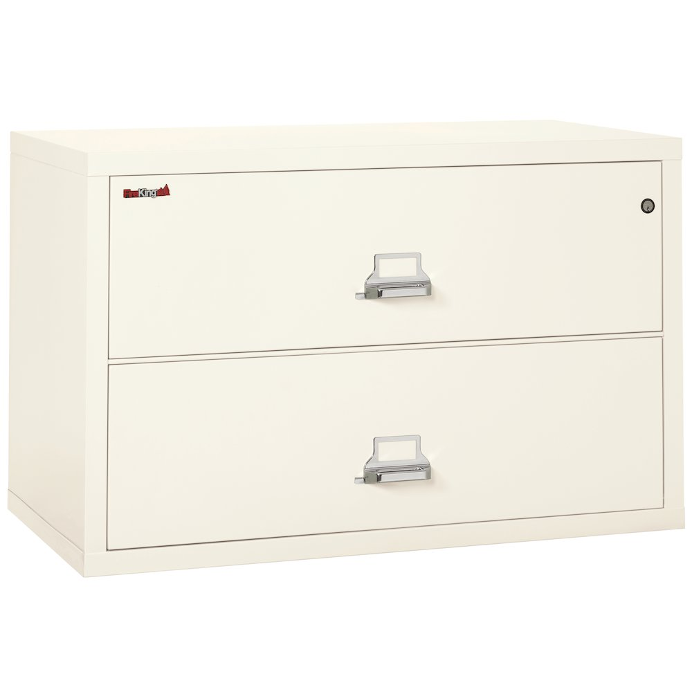 "2 Drawer Lateral File, 44"" wide, Ivory White. Picture 1"