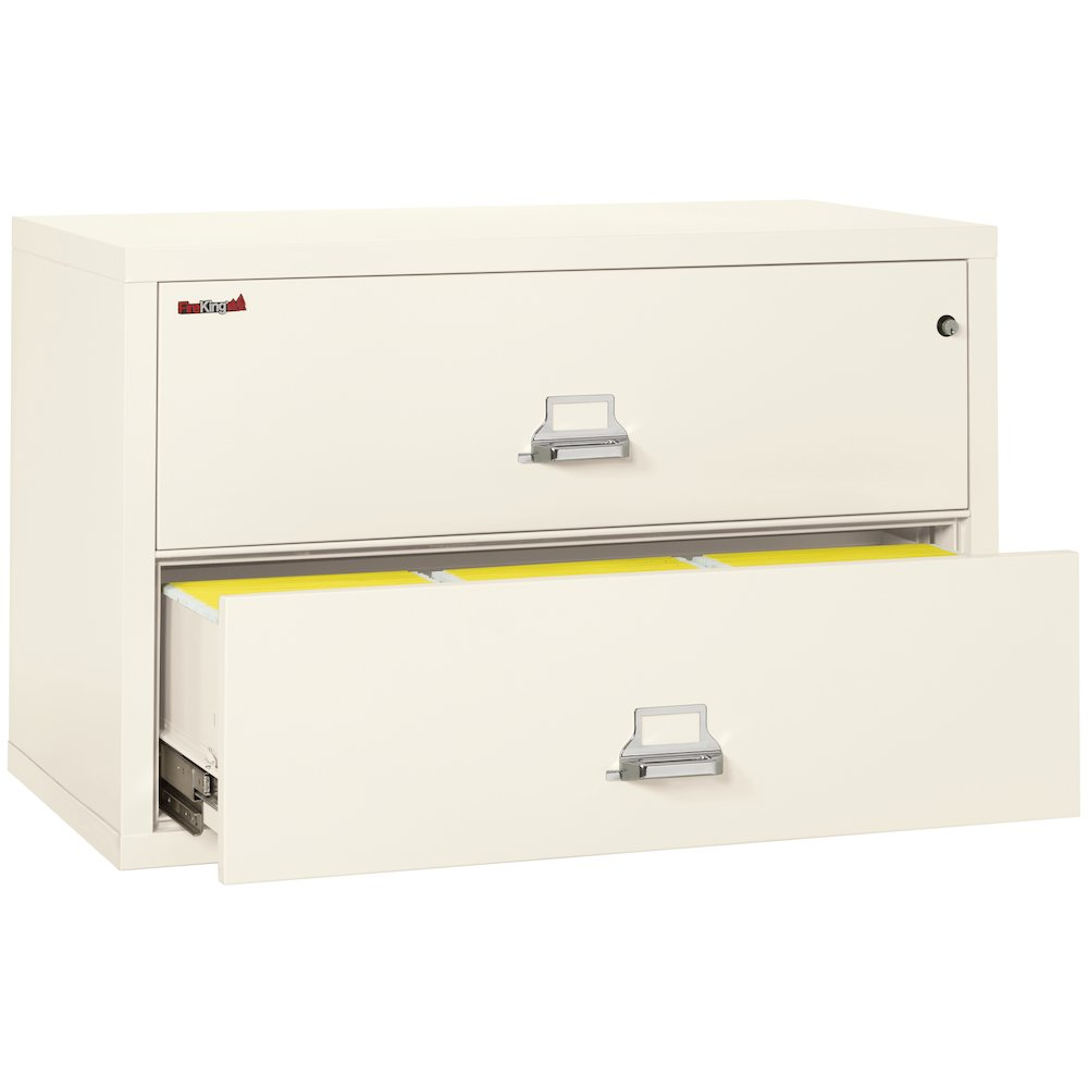 "2 Drawer Lateral File, 44"" wide, Ivory White. Picture 2"