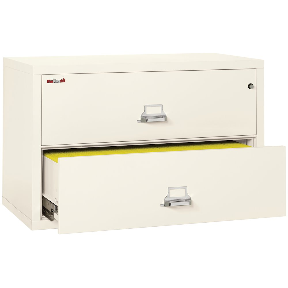 "2 Drawer Lateral File, 44"" wide, Ivory White. Picture 4"