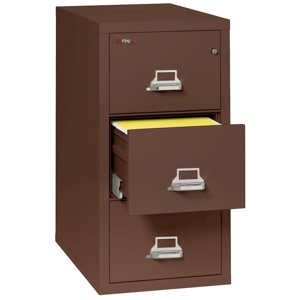 "Vertical File Cabinet, 3 Drawer Letter 31 1/2"" depth, Brown. Picture 2"