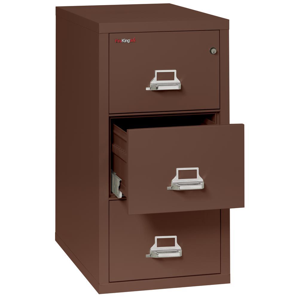 "Vertical File Cabinet, 3 Drawer Letter 31 1/2"" depth, Brown. Picture 3"
