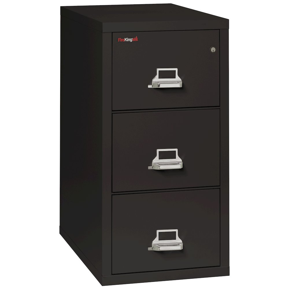 "Vertical File Cabinet 3 Drawer Legal 31 1 2"" depth Black"