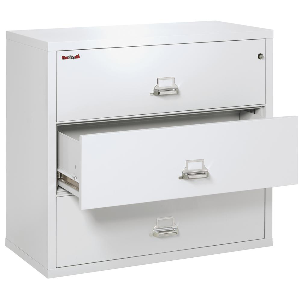 """3 Drawer Lateral File, 44"""" wide, Arctic White. Picture 3"""