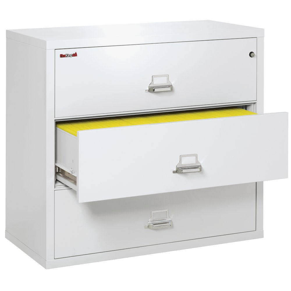 """3 Drawer Lateral File, 44"""" wide, Arctic White. Picture 4"""