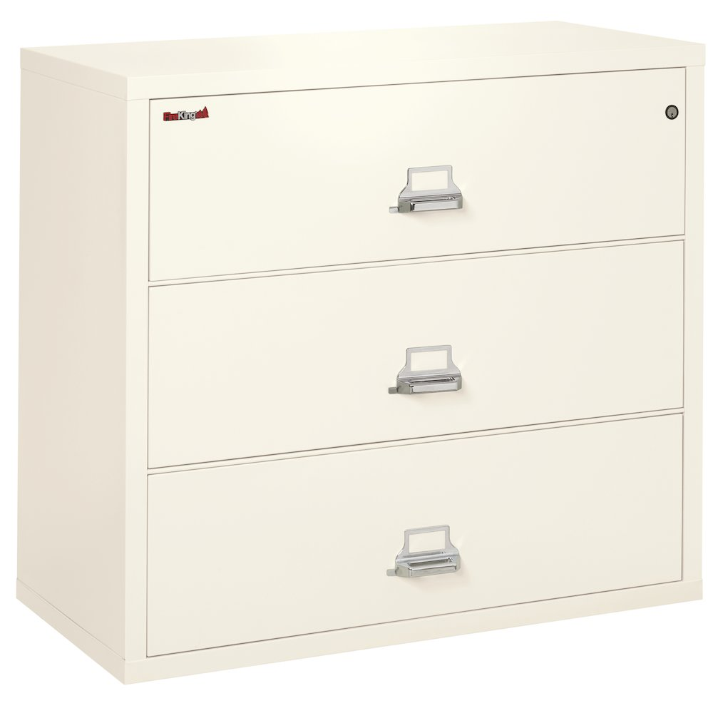 """3 Drawer Lateral File, 44"""" wide, Ivory White. Picture 1"""