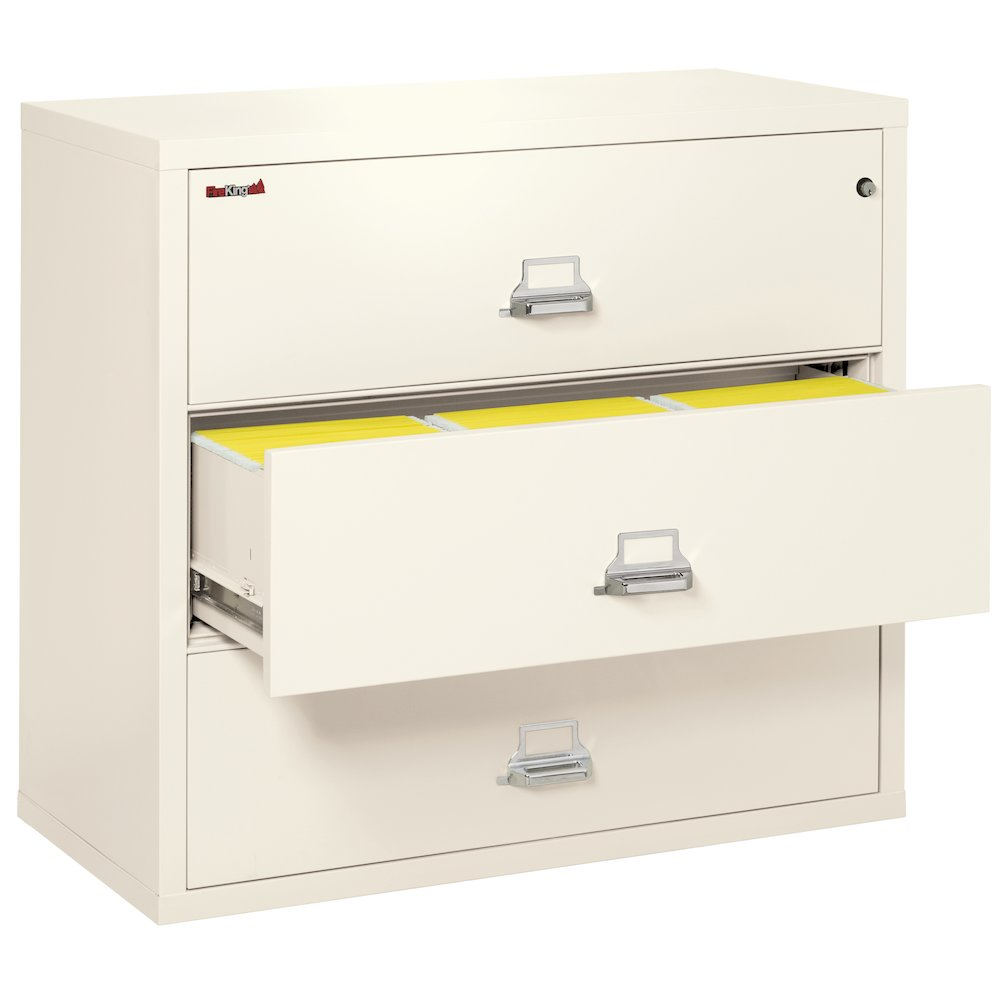 """3 Drawer Lateral File, 44"""" wide, Ivory White. Picture 2"""