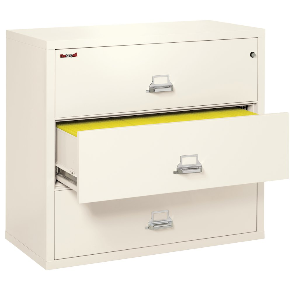 """3 Drawer Lateral File, 44"""" wide, Ivory White. Picture 4"""