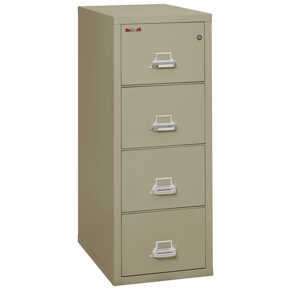 "Vertical File Cabinet, 4 Drawer Letter 31 1/2"" depth, Pewter. Picture 1"