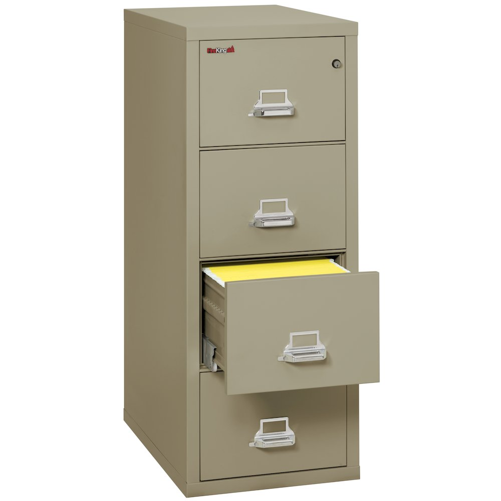 "Vertical File Cabinet, 4 Drawer Letter 31 1/2"" depth, Pewter. Picture 2"