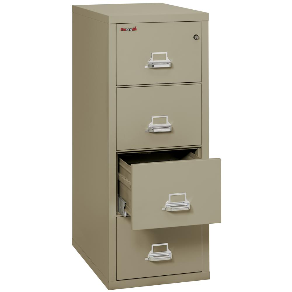 "Vertical File Cabinet, 4 Drawer Letter 31 1/2"" depth, Pewter. Picture 3"
