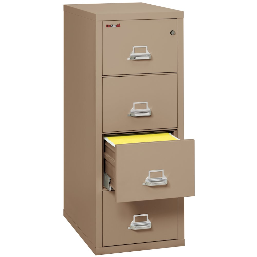 "Vertical File Cabinet, 4 Drawer Letter 31 1/2"" depth, Taupe. Picture 2"