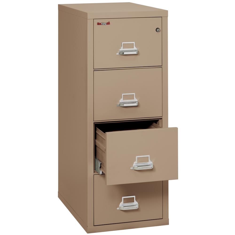 "Vertical File Cabinet, 4 Drawer Letter 31 1/2"" depth, Taupe. Picture 3"