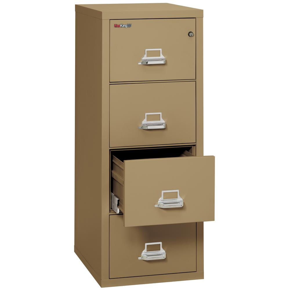 "4 Drawer Legal Size Filling Cabinet,   25"" depth, Sand. Picture 3"