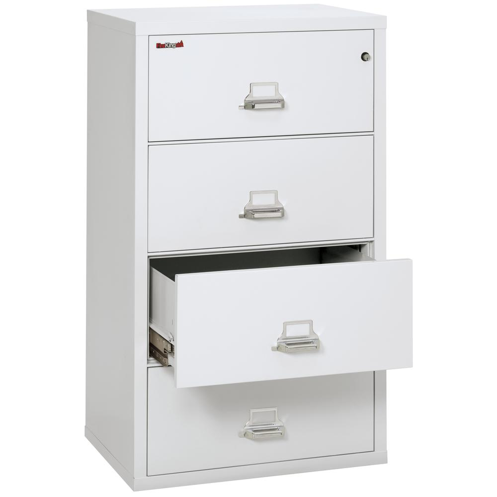"""4 Drawer Lateral File, 31"""" wide, Arctic White. Picture 3"""