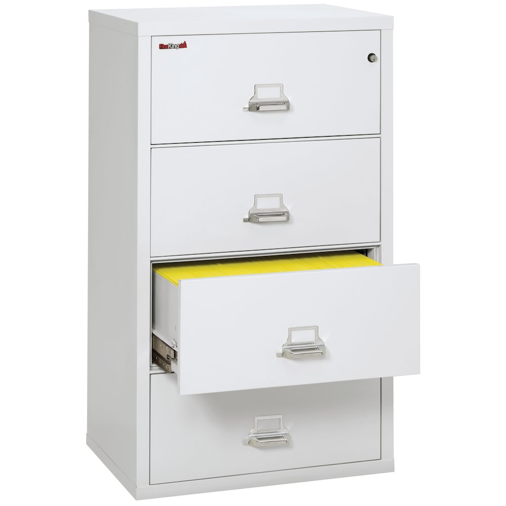 """4 Drawer Lateral File, 31"""" wide, Arctic White. Picture 4"""