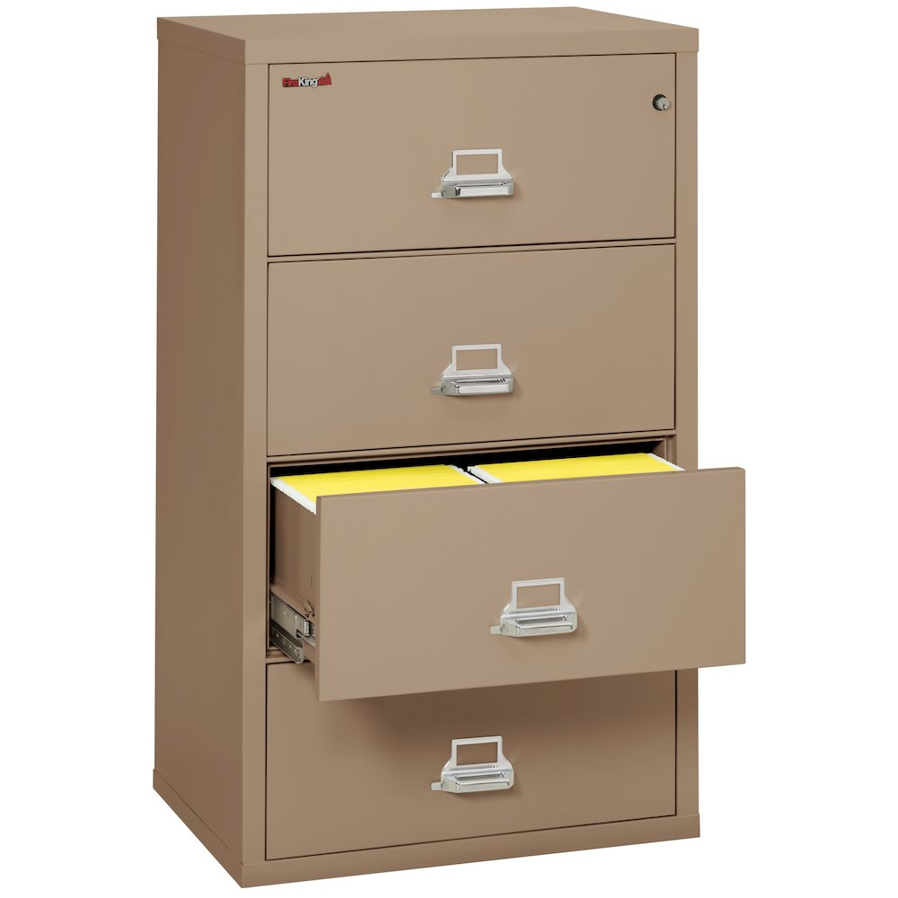 """4 Drawer Lateral File, 31"""" wide, Taupe. Picture 2"""