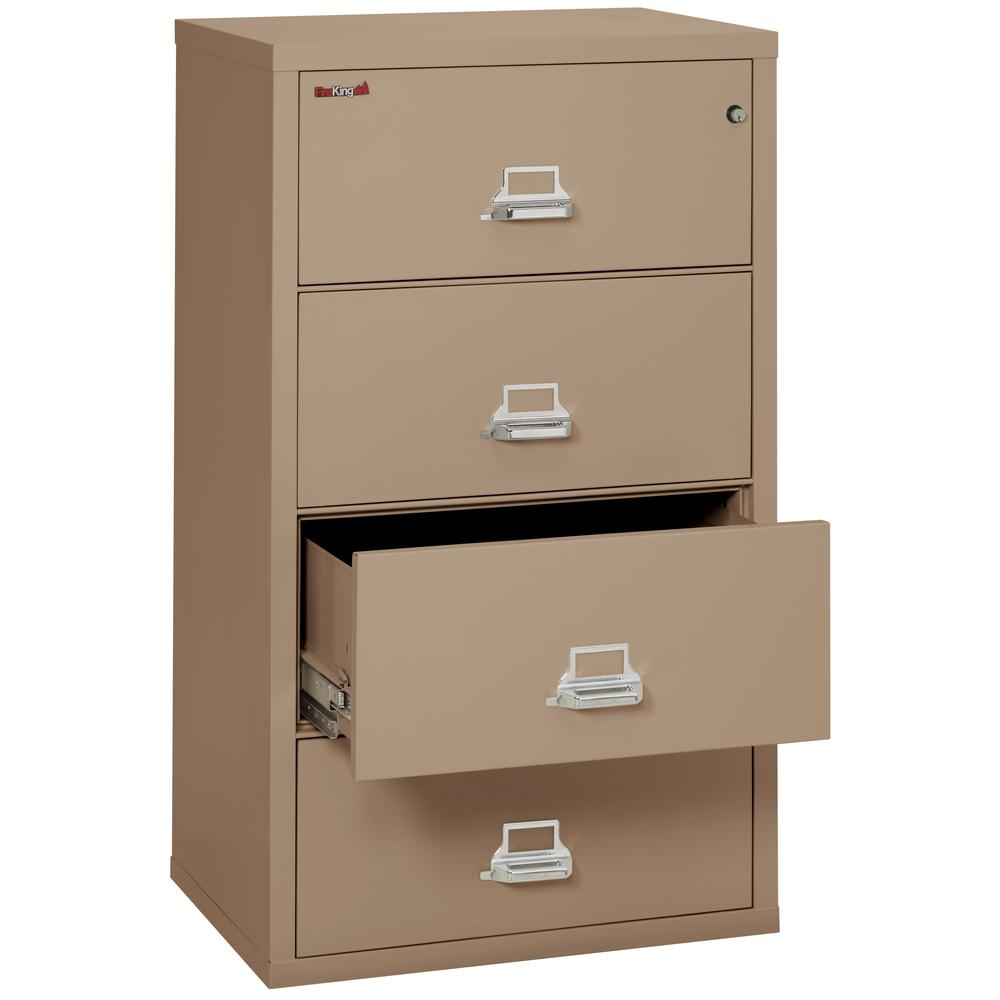 """4 Drawer Lateral File, 31"""" wide, Taupe. Picture 3"""