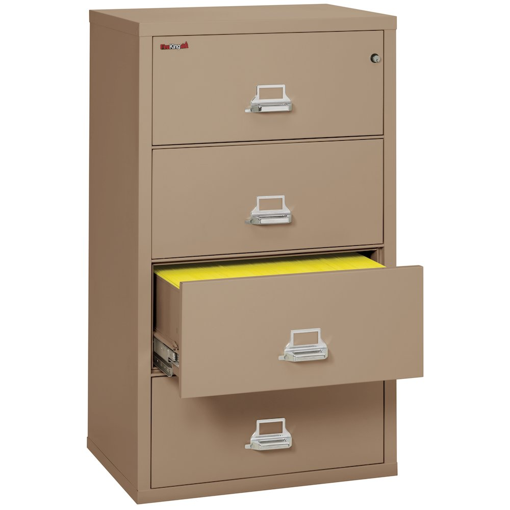 """4 Drawer Lateral File, 31"""" wide, Taupe. Picture 4"""