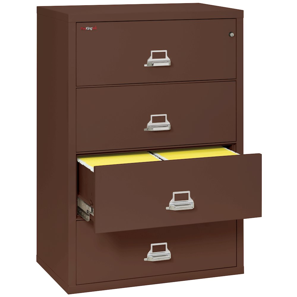 "4 Drawer Lateral File, 38"" wide, Brown. Picture 2"