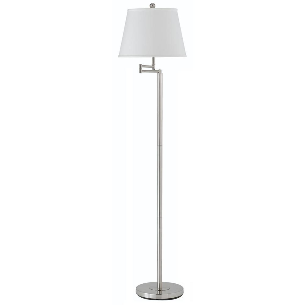 60 Quot Height Metal Floor Lamp In Brushed Steel