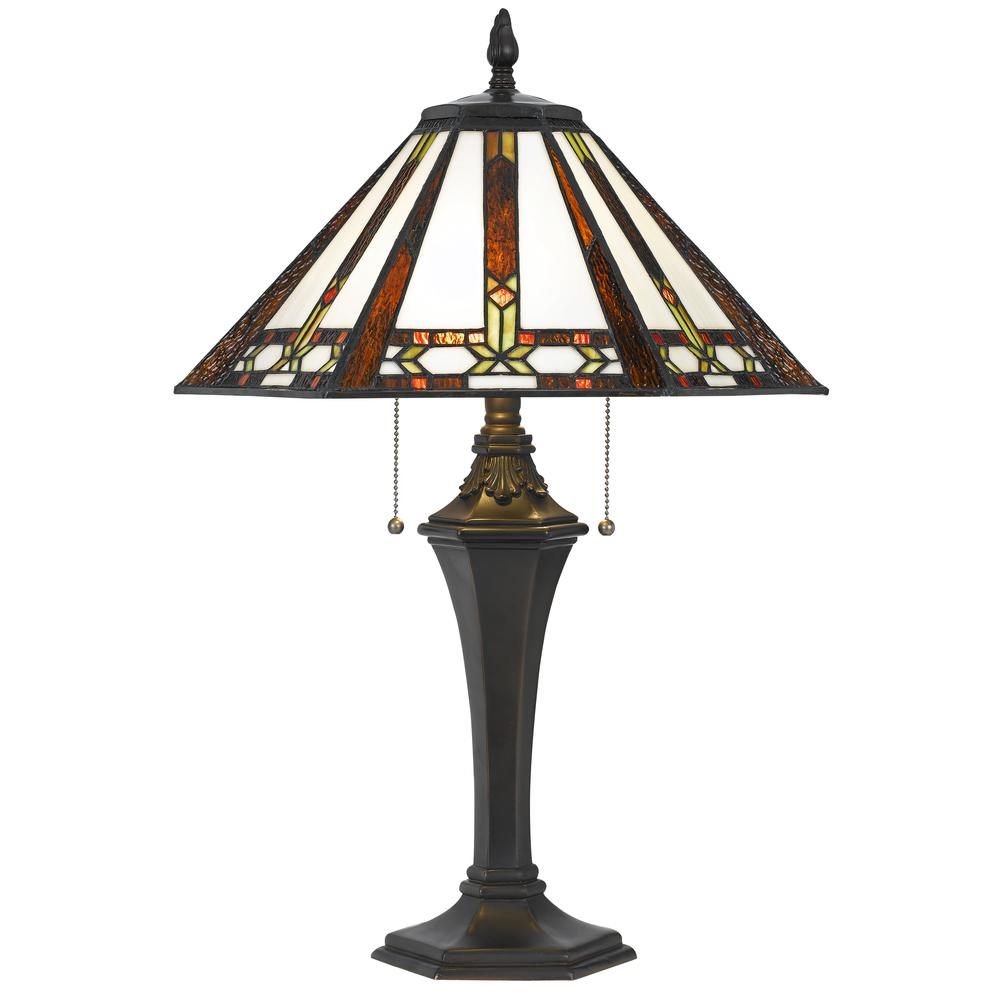 60W X 2 Tiffany Table Lamp. Picture 1