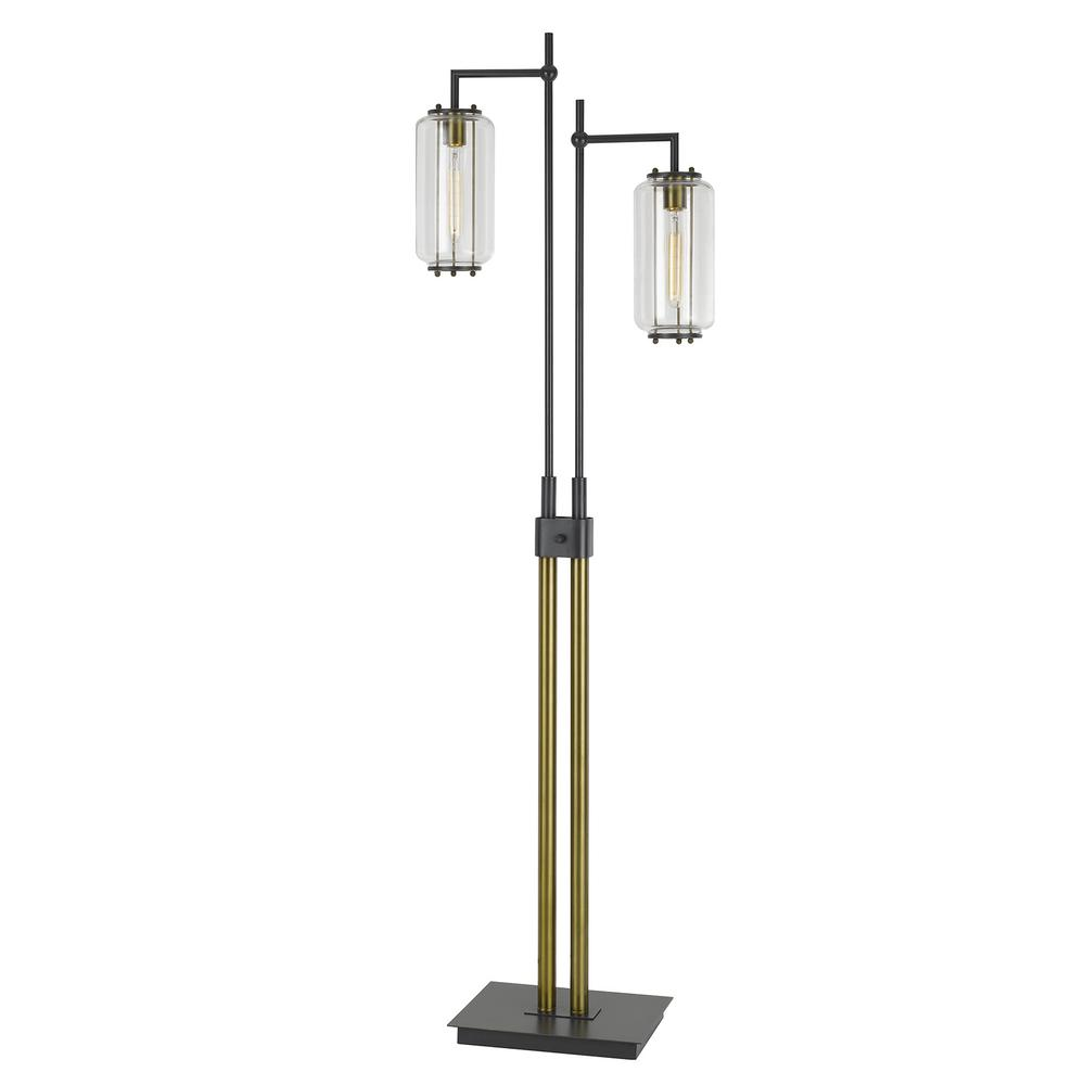 66quot height downlight floor lamp in dark bronze antique brass for Downlight floor lamps