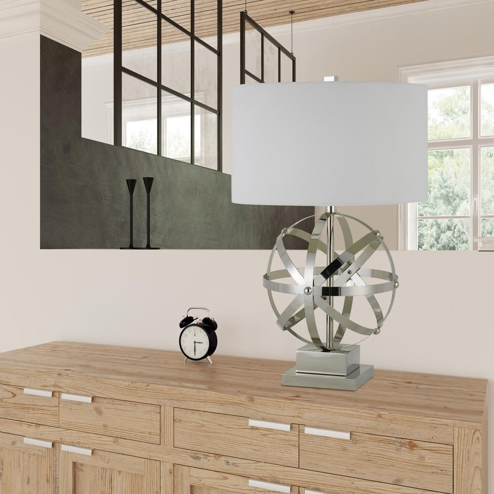 150W 3 Way Vittoria Metal Table Lamp. Picture 1