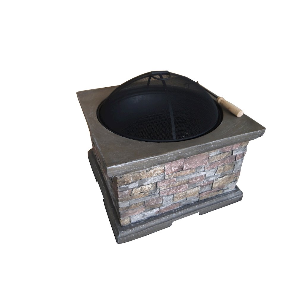 Etna brick square wood burning fire pit for Square fire ring
