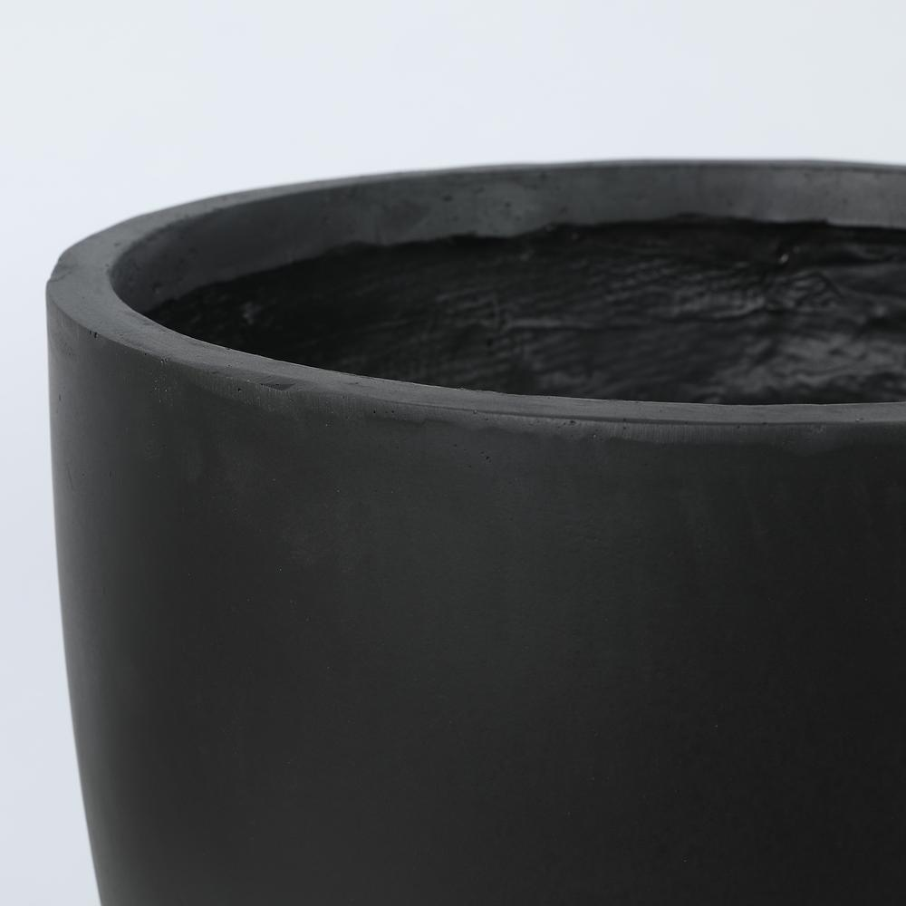 Round Black Finish Planter (Large). Picture 2