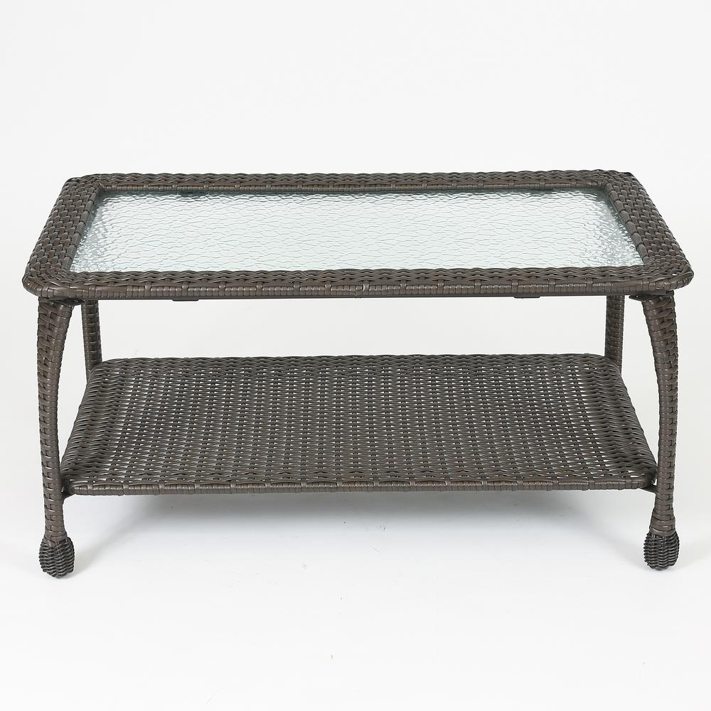 Set of 6 Plastic Wicker Sofa Set, Tan Cushions. Picture 5