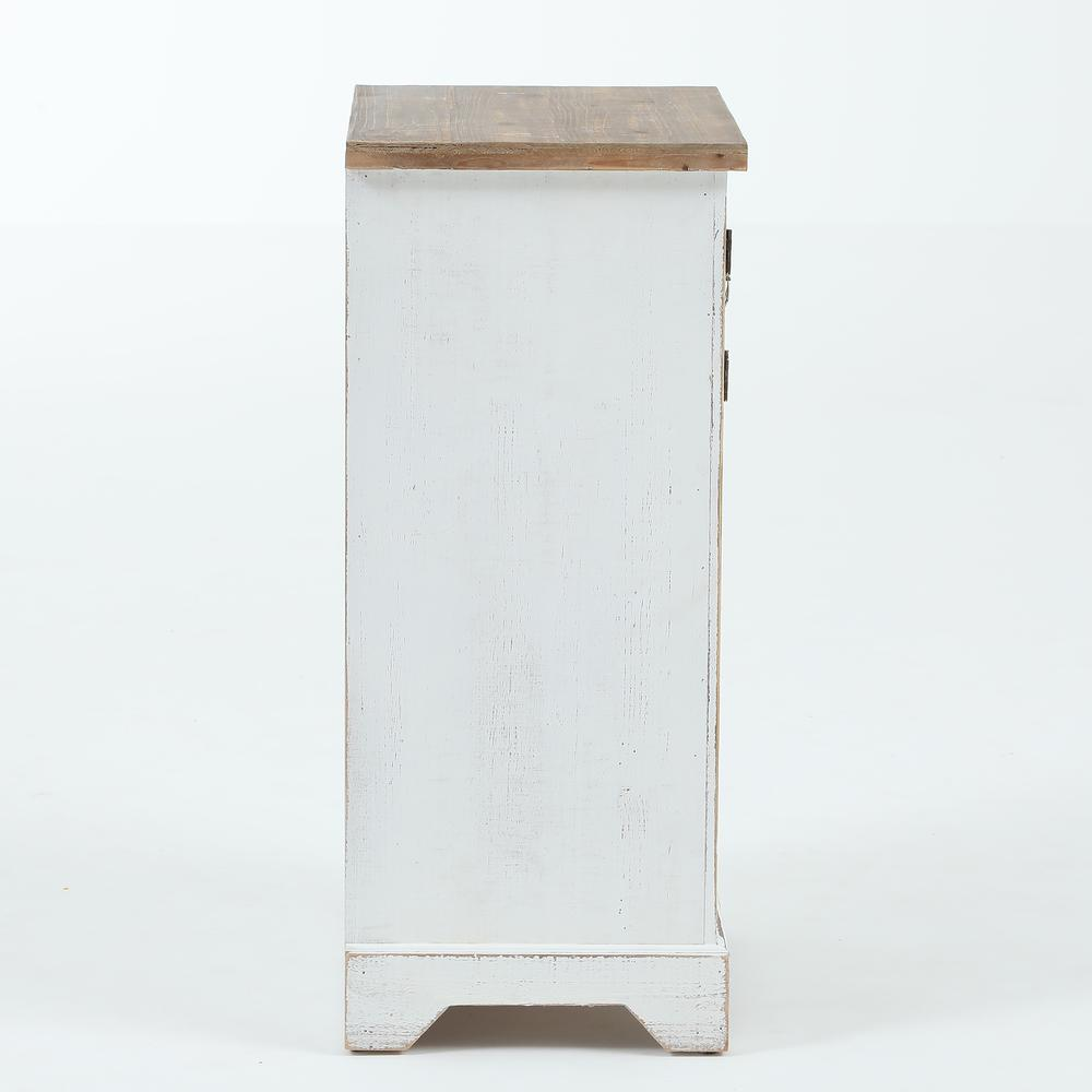 White and Natural Wood Wine Cabinet. Picture 5