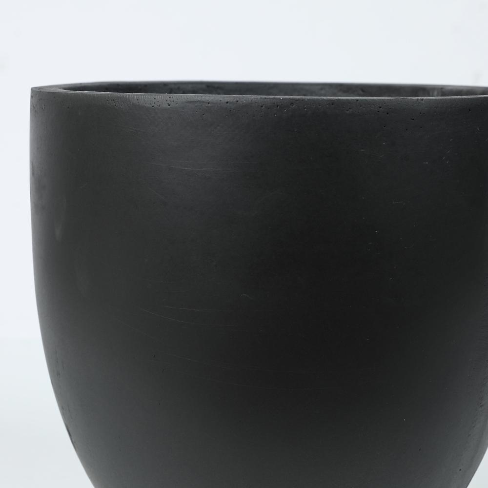 Round Black Finish Planter (Small)
