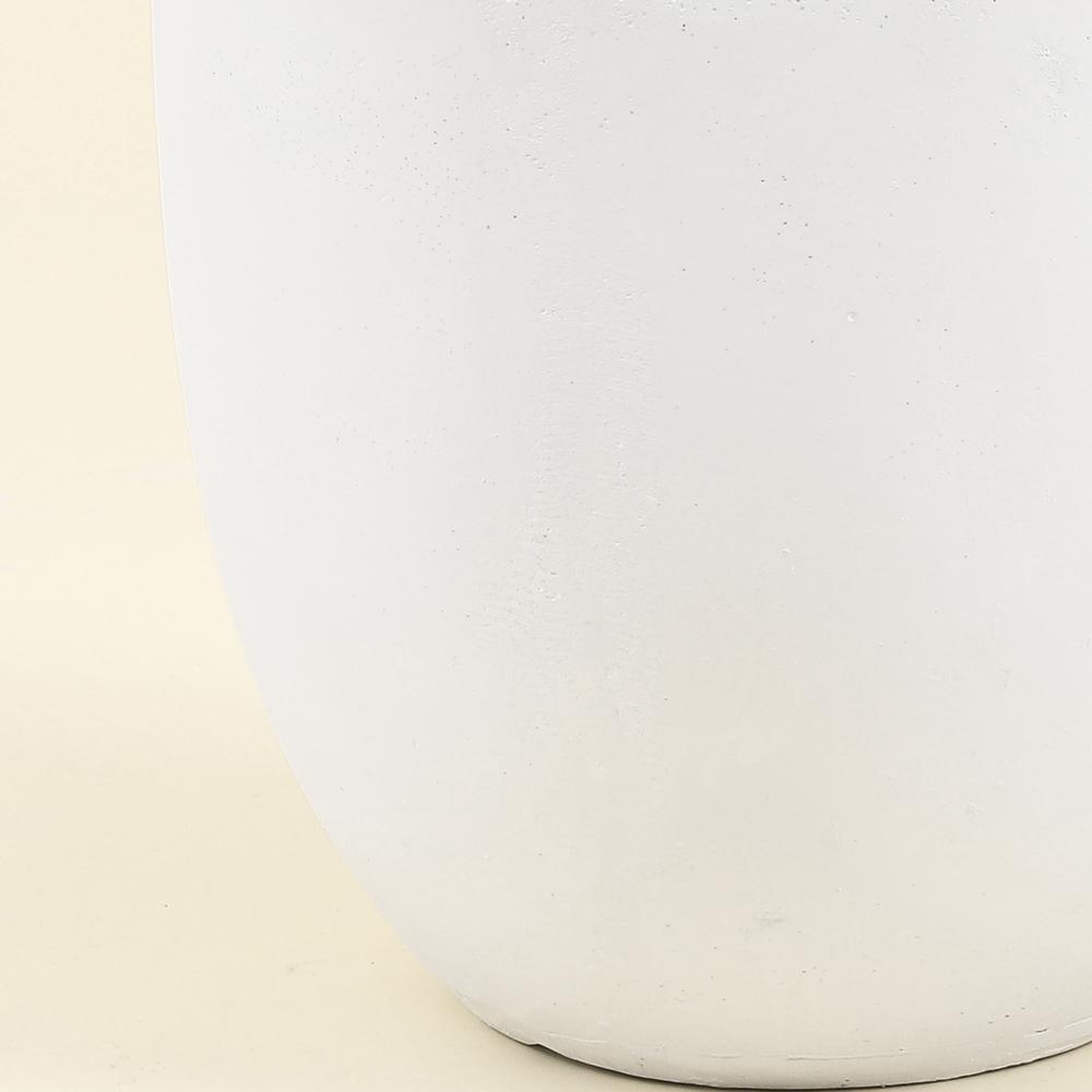 Round White Finish Planter (Large)